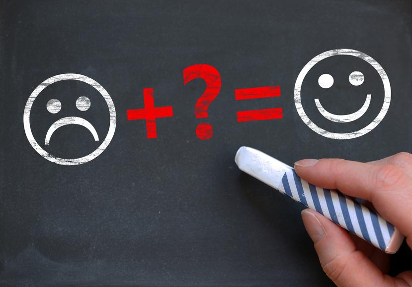 unhappy + ? happy